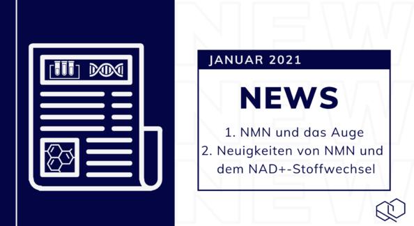 1. NMN und das Auge, 2. Neuigkeiten von NMN und dem NAD+-Stoffwechsel, News Januar 2021